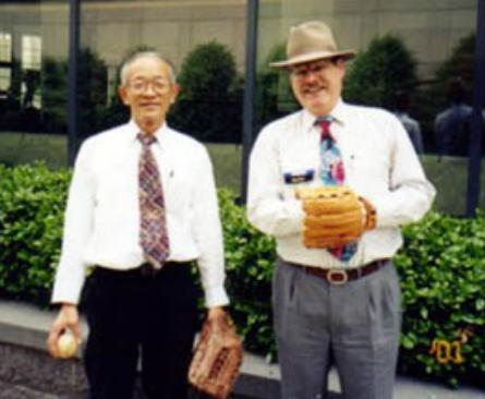 Akio Miura with Dennis Arter